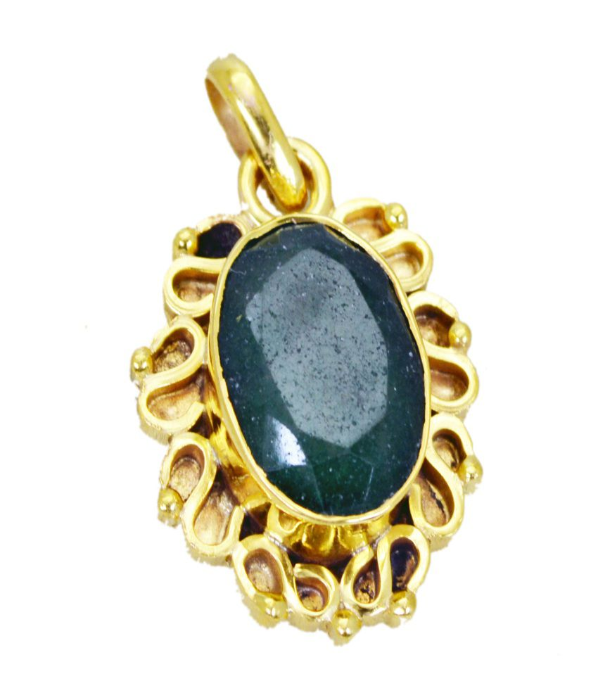 India Star Emerald: Riyo Beauteous Star Indianan Emerald Pendant: Buy Riyo Beauteous Star Indianan Emerald Pendant