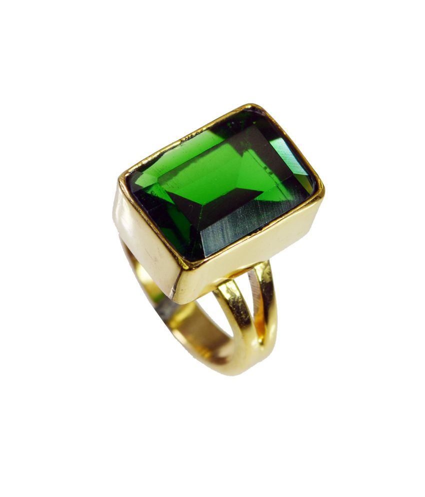 India Star Emerald: Riyo Divine Star Emerald-cz Ring: Buy Riyo Divine Star