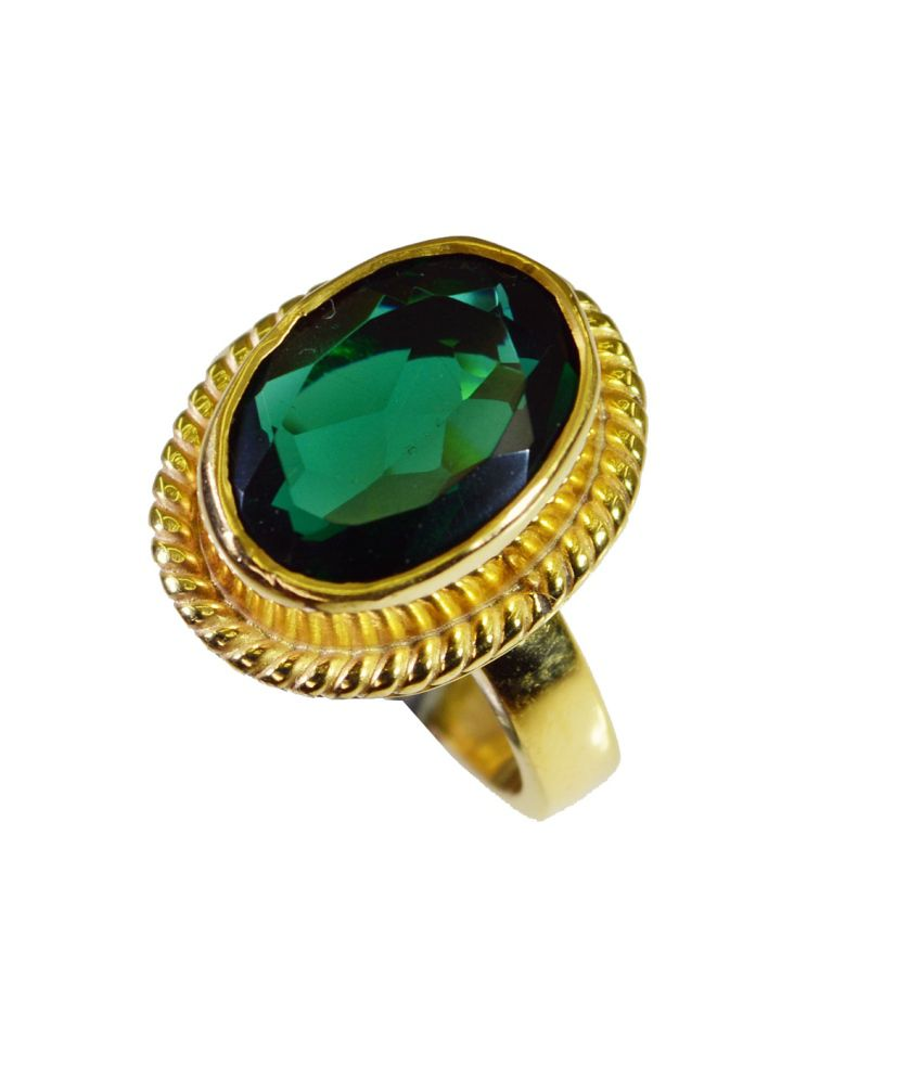 India Star Emerald: Riyo Handsome Star Emerald-cz Ring: Buy Riyo Handsome Star