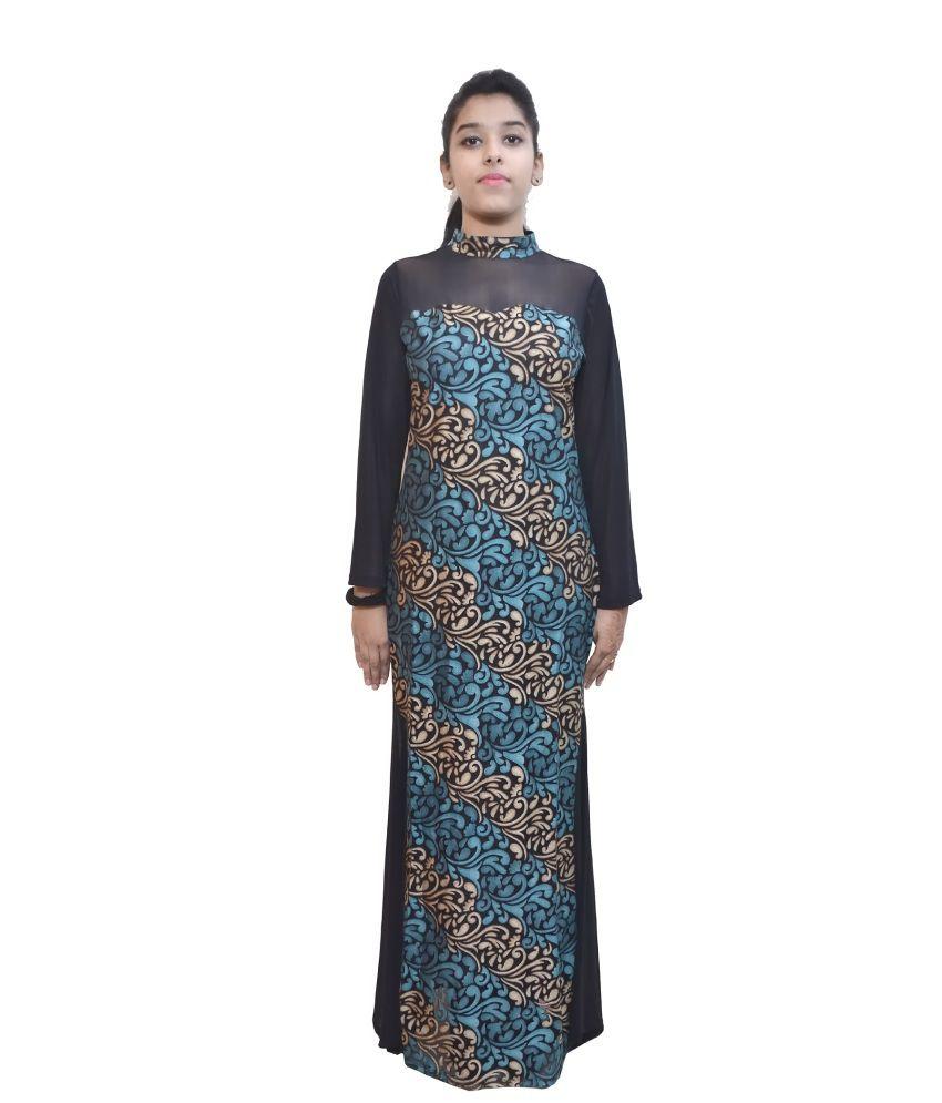 GLAMISS Black Cotton Silk Unstitched Dress Material