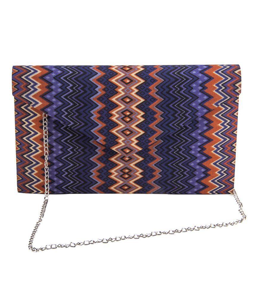 The Purple Sack Zigzagzoom Clutch