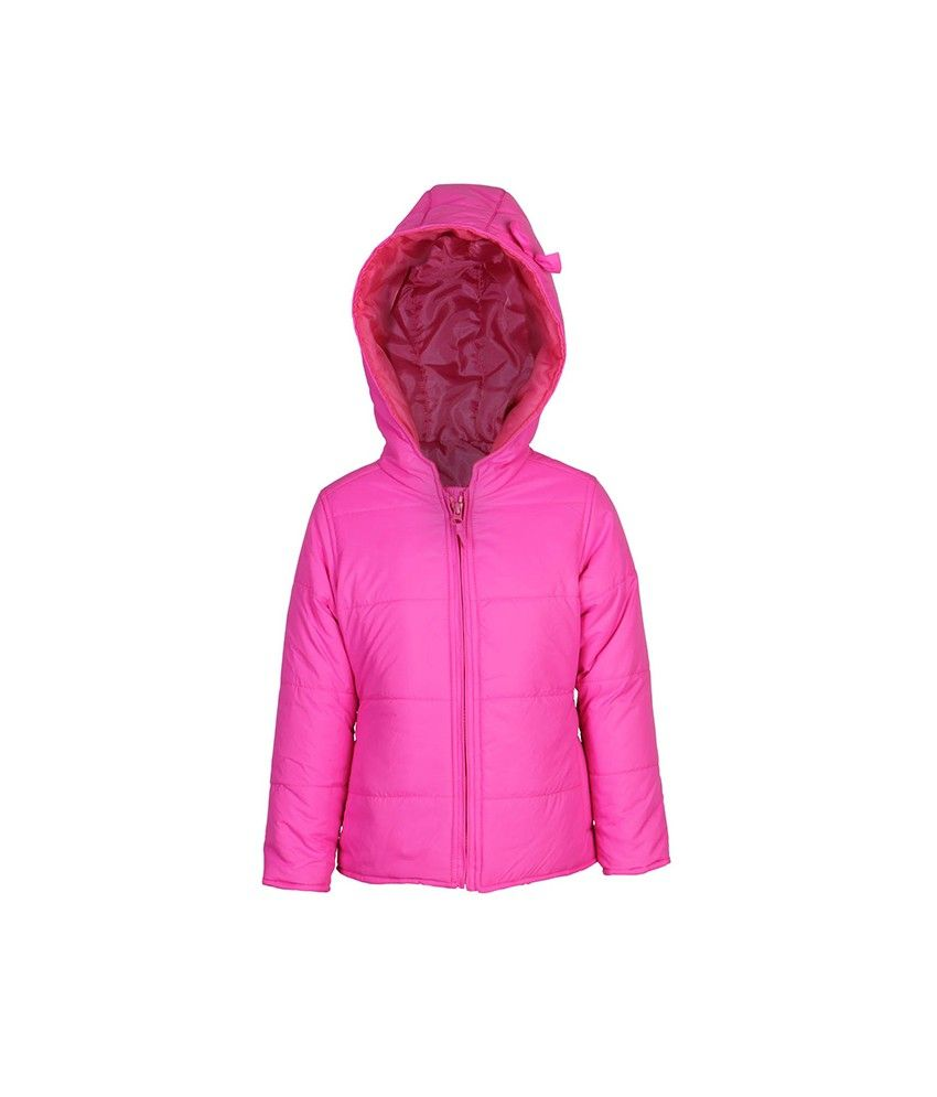 Ello Full Sleeve Pink Color With Hooded Padded Jackets For Kids