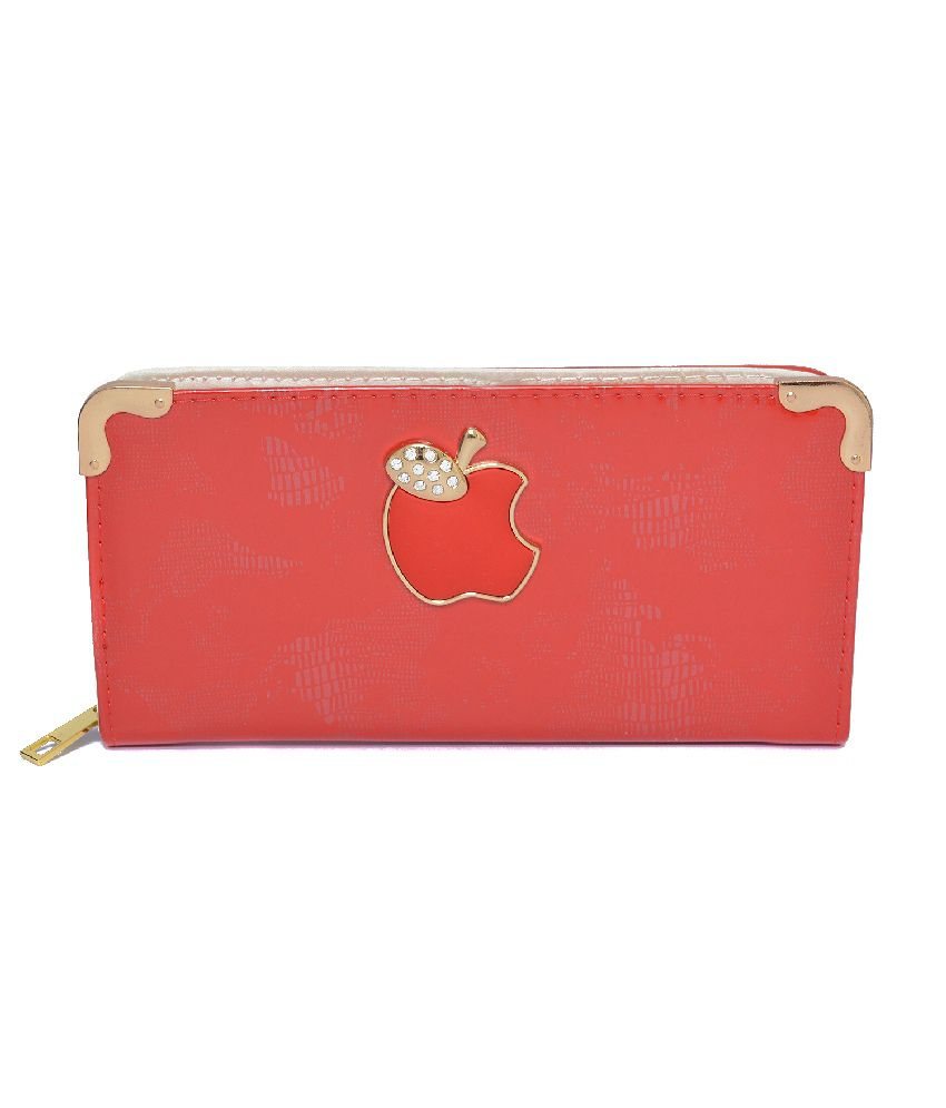 Deco Red Designer Trendy Women's Wallet