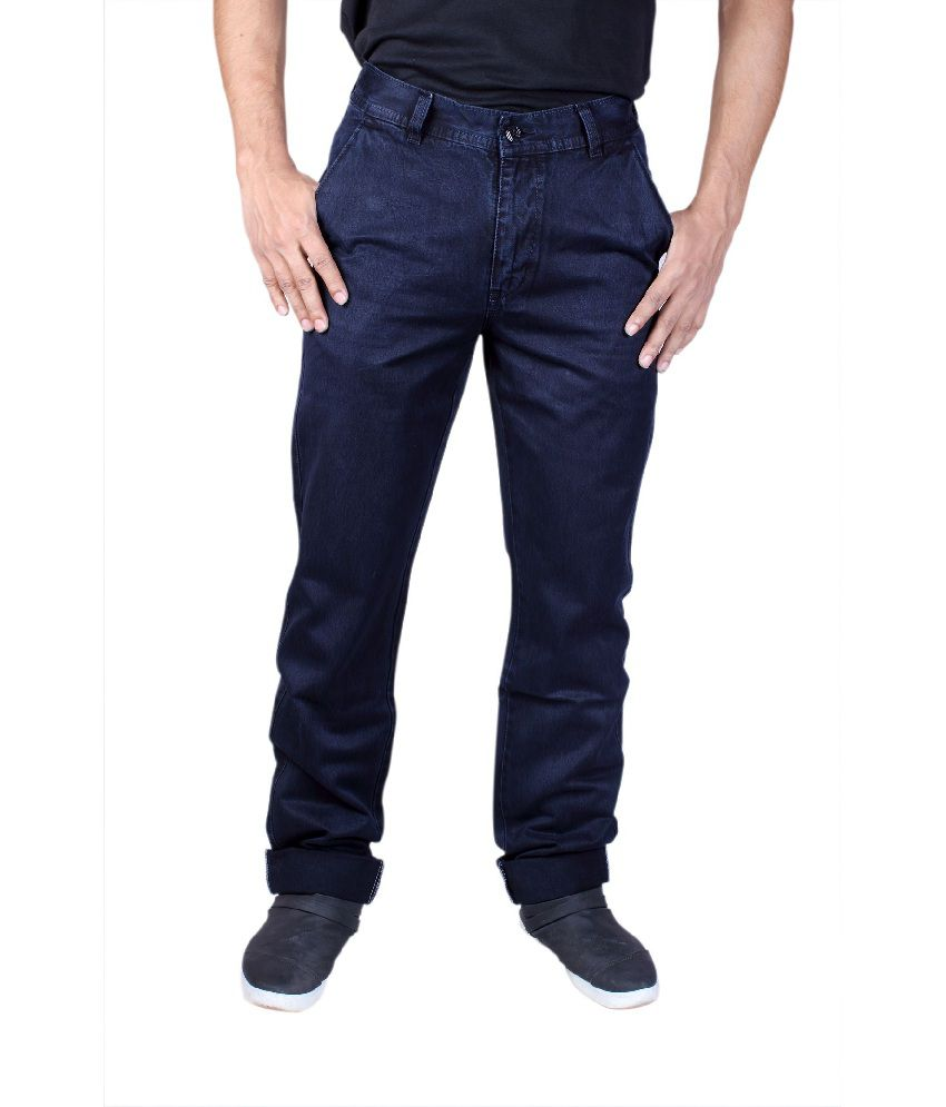 Male Standard Decent Cotton Blue Jeans