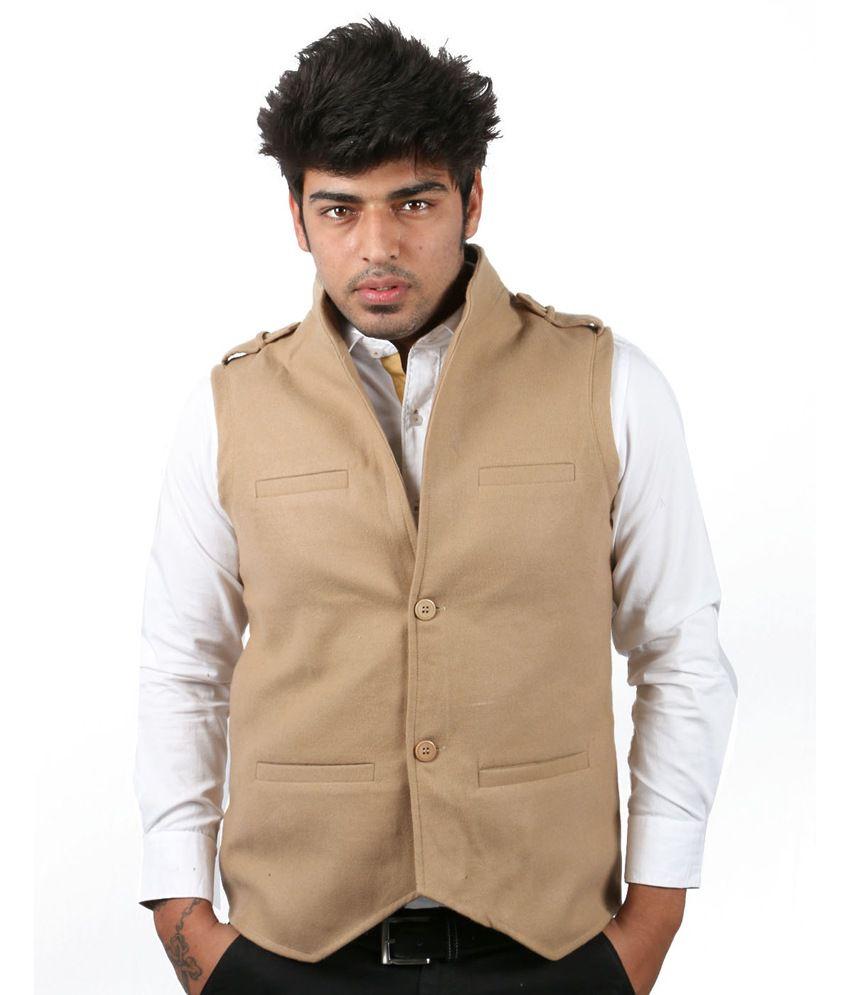 Moladz Khaki Alberto Woollen Waistcoats