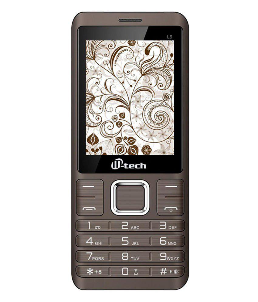 Mtech L6 Black Dual Sim Phone