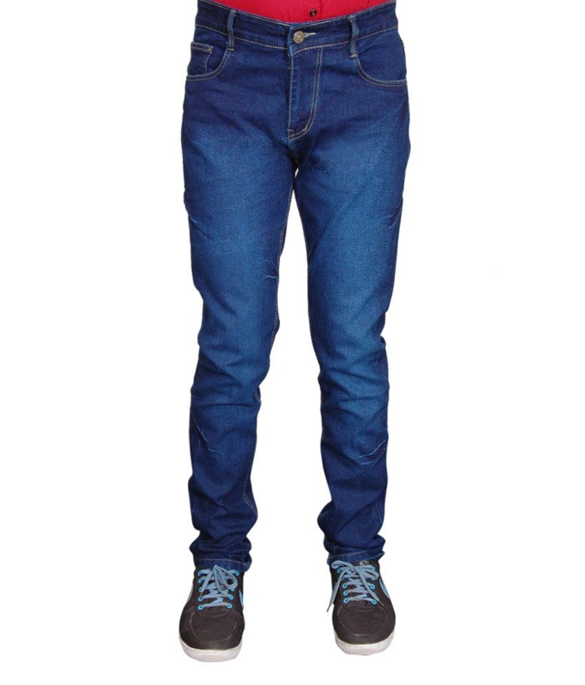 Fashion Flag Blue Slim Fit Jeans
