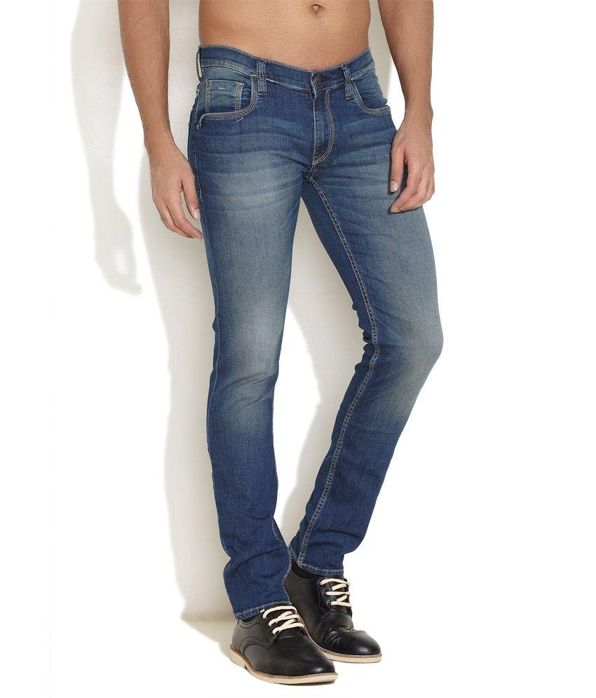 Lee Medium Blue Low Bruce Skinny Jeans