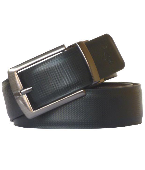 Sondagar Arts Black and Brown Formal Reversible Men's Belt