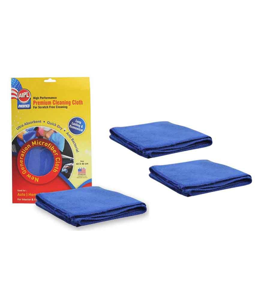 Microfiber Gun Cleaning Cloth: ABRO Microfiber Car Cleaning Cloth CT-210 (Set Of 3): Buy