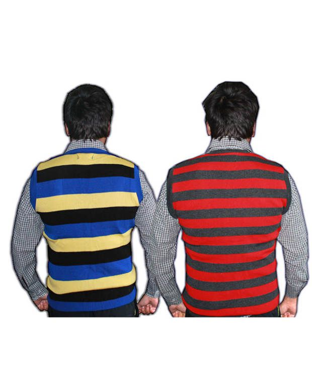 f5d95f71cfc3 Oswal Men Striped Half Sleeves Sweater-pack Of 2 - Buy Oswal Men ...