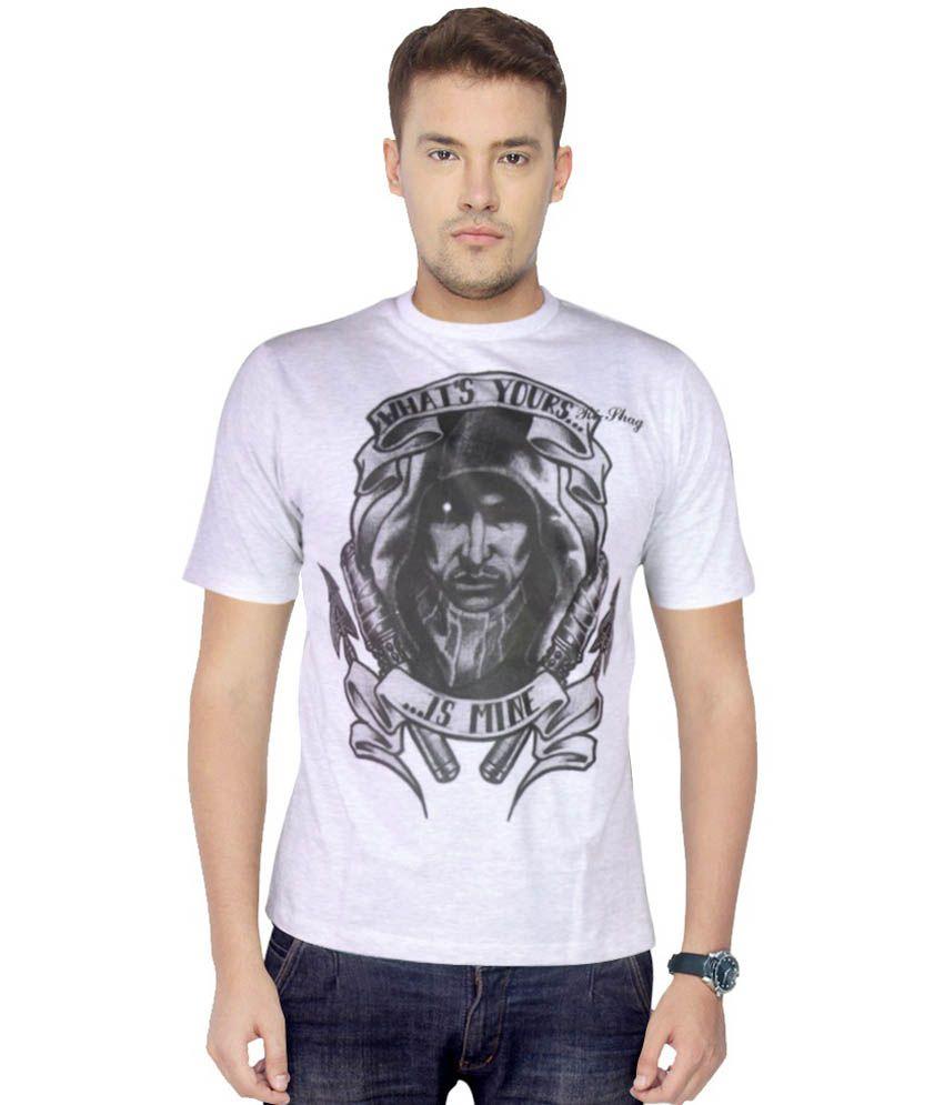 Rishag Gray Cotton Half Sleeve Round Neck Half Sleevee T Shirts