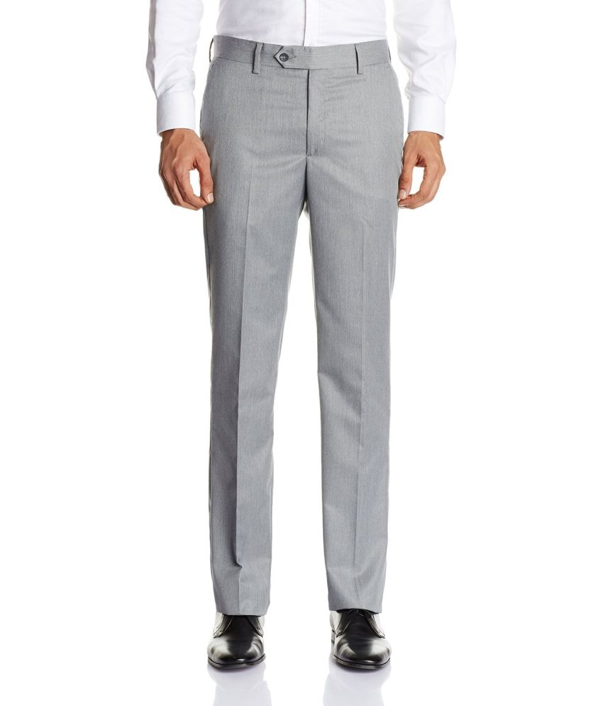 Fashion Station Gray Cotton Blend Casual Chinos