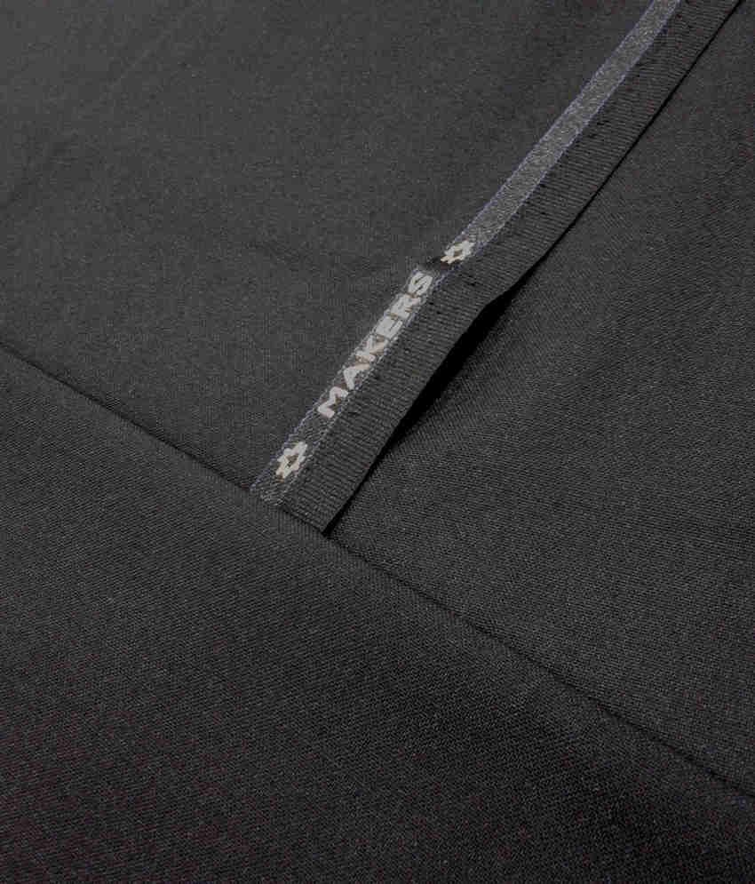 82140a9ce22 Makers By Raymond Black Blended Poly Viscose Suiting Fabric - Buy ...