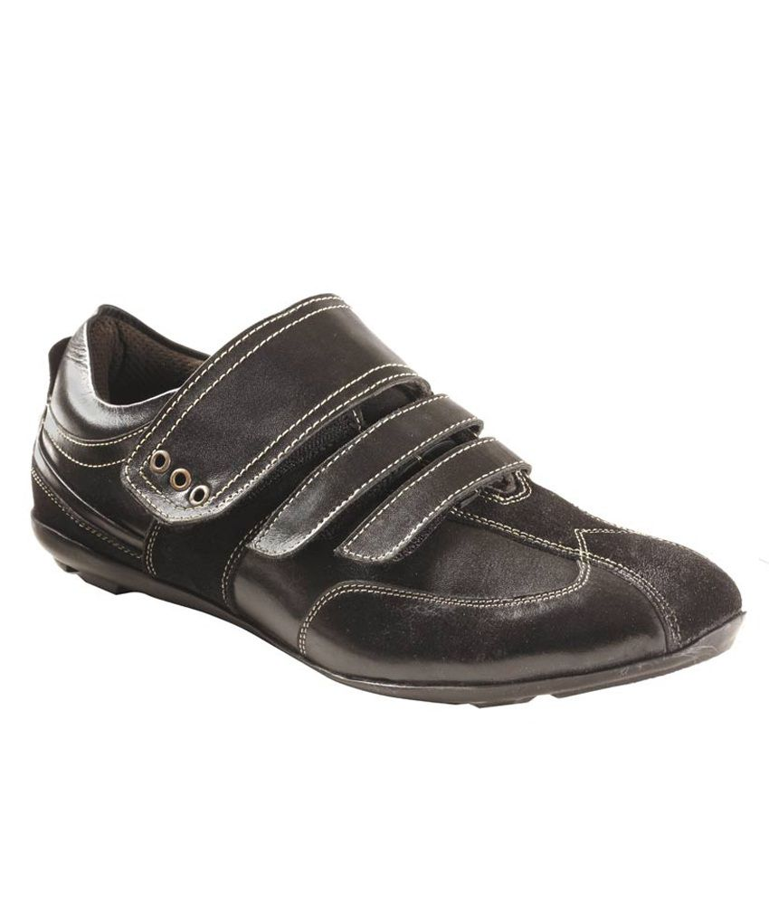 Black Velcro Shoes India