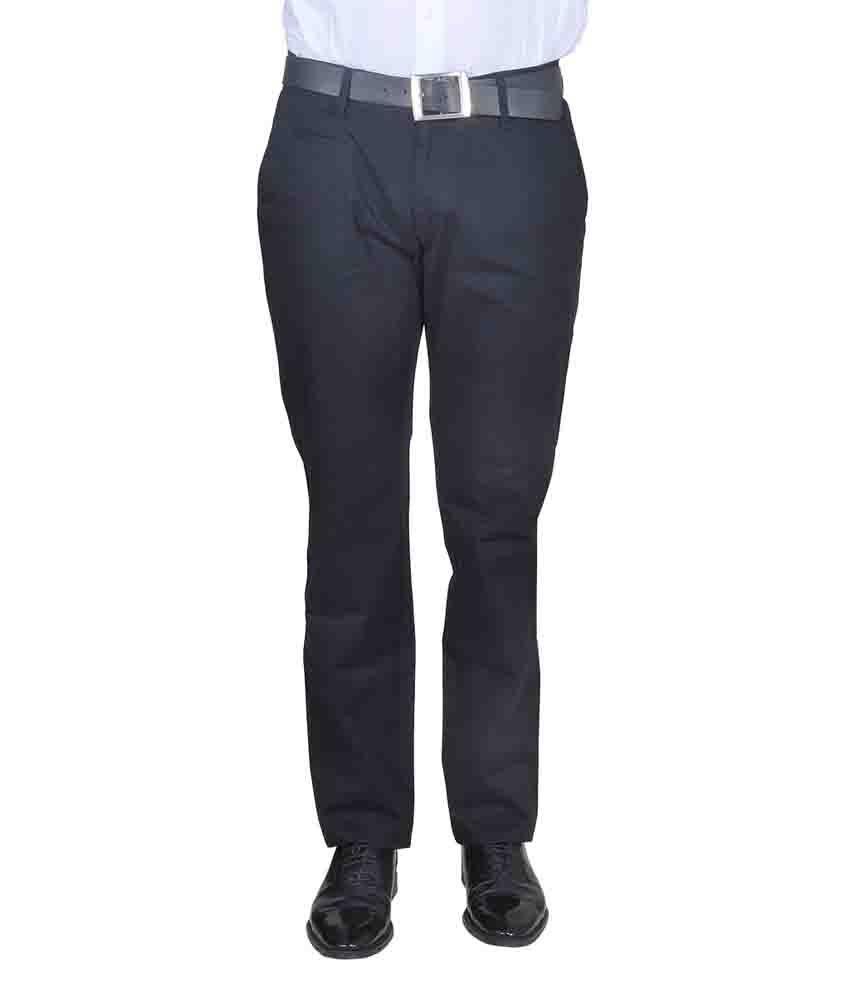 Twiss Sports Black Comfort Fit Men's Super Fine Cotton Trouser