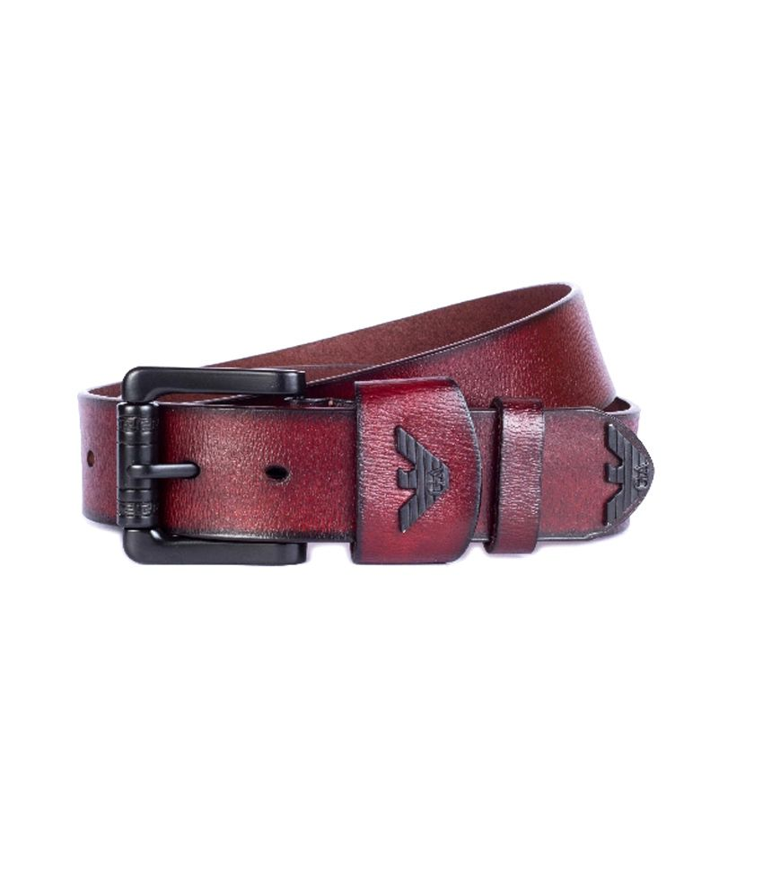 Armani Leather Single Casual Belt For Men