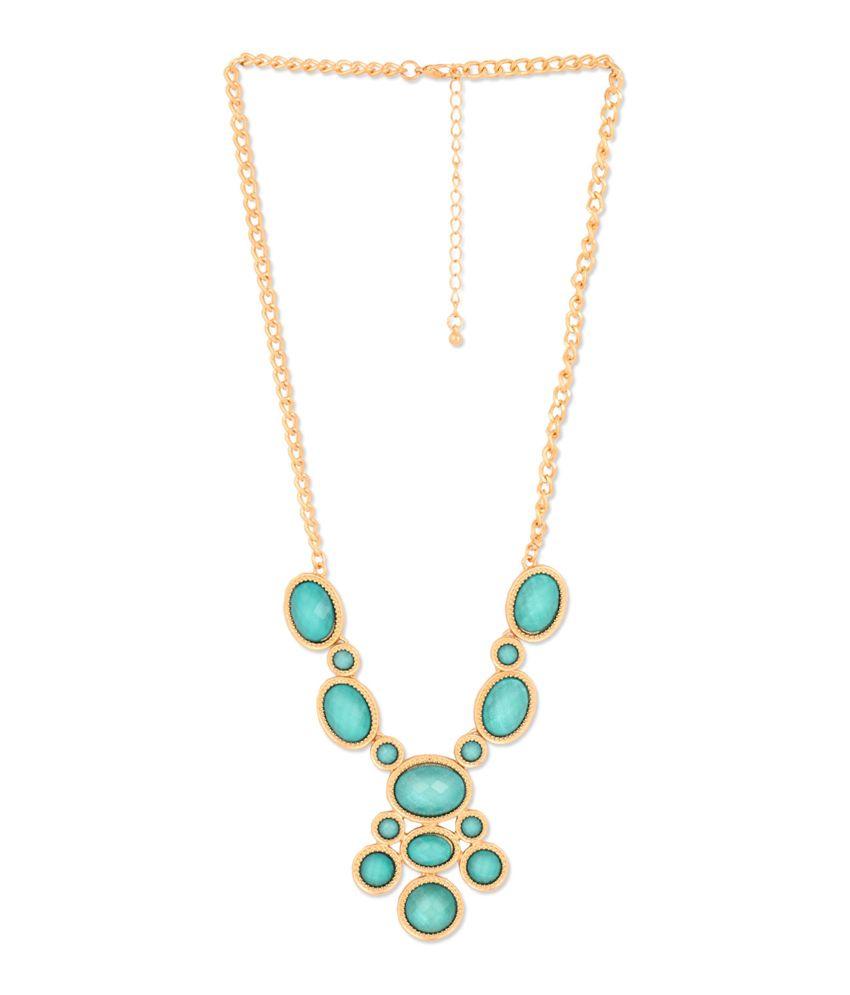 Circuzz Blue Alloy Necklace