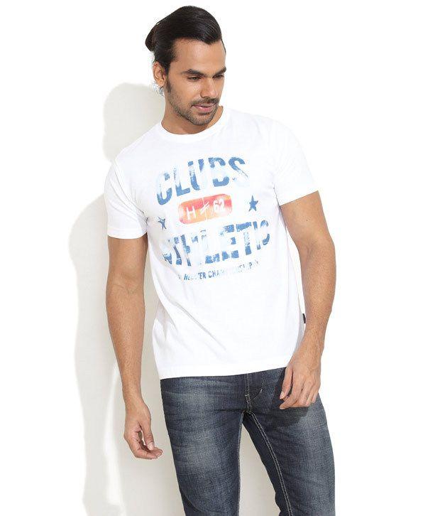 Daniel Hechter White Club Printed T-shirt