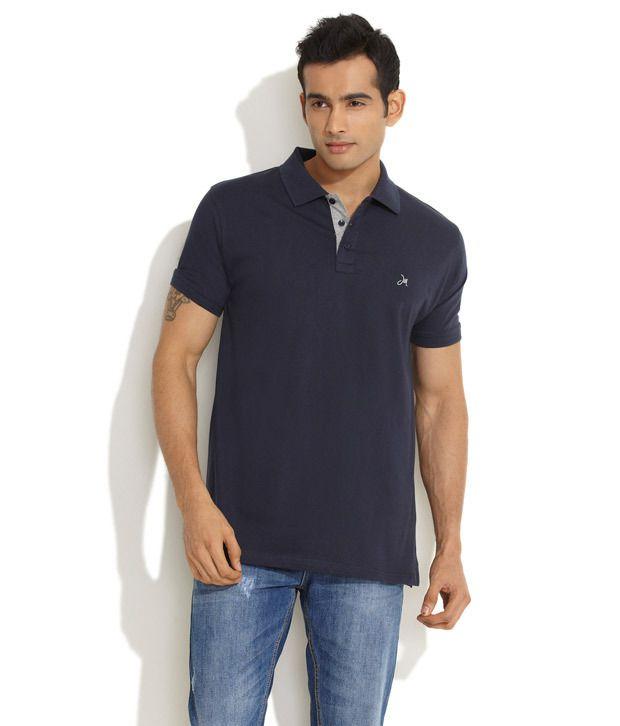 John Miller Medium Blue Happy Weekend Solid T-Shirt
