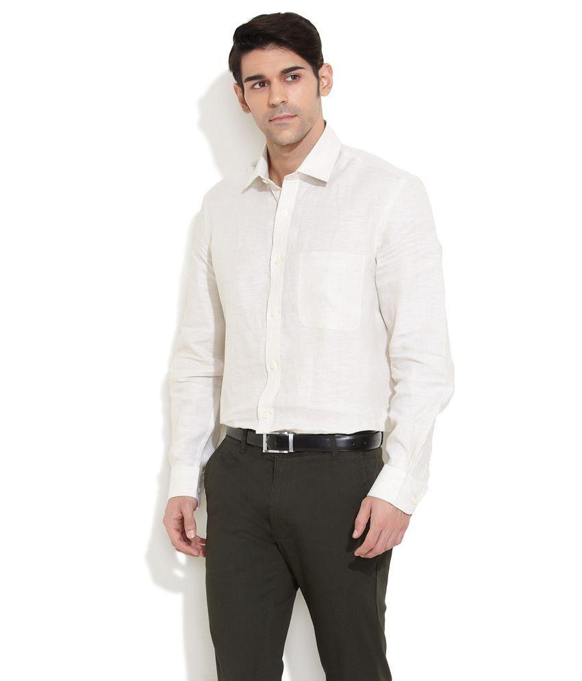 Urbana Natural Easy Iron Egyptian Linen Shirt