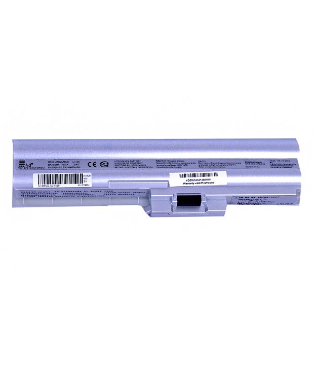 4D Sony Vaio Vgn-Z25 6 Cell 4400 Mah Laptop Battery
