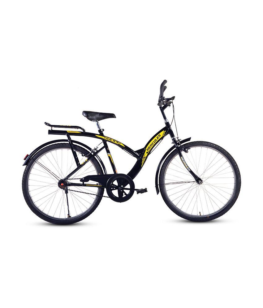 eef1cfe4824 Bsa Hercules Rocky 24 Inches Black Ranger Cycle Adult Bicycle/Man/Men/Women