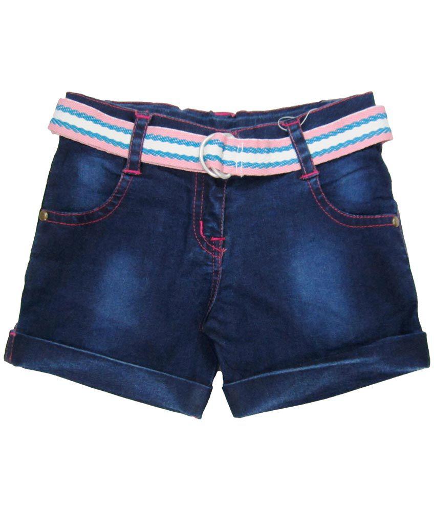 Catapult Girl's Darl Blue Stretch Denim Shorts