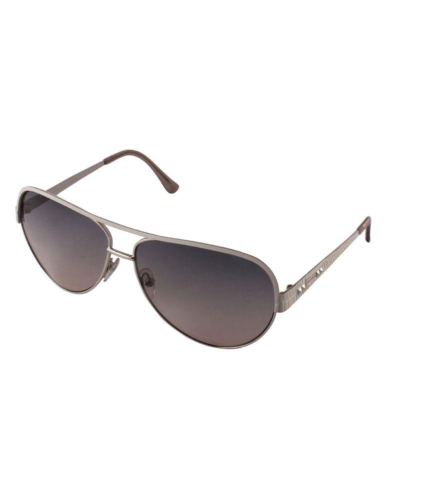 Tim Hawk White Metal Aviator Casual Sunglasses For Men