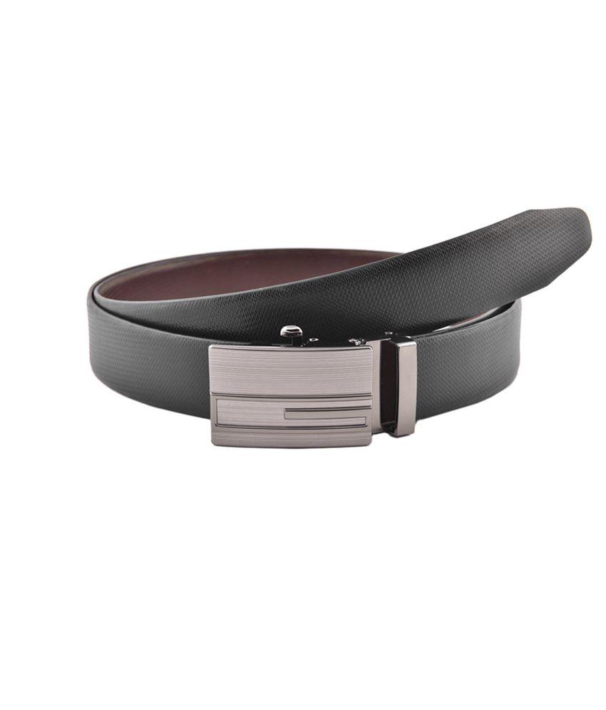 Buckleup Black Formal Reversible Leather Belt For Men