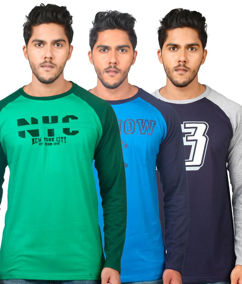 Tekki Multi Cotton Printed T-shirt - Pack Of 3