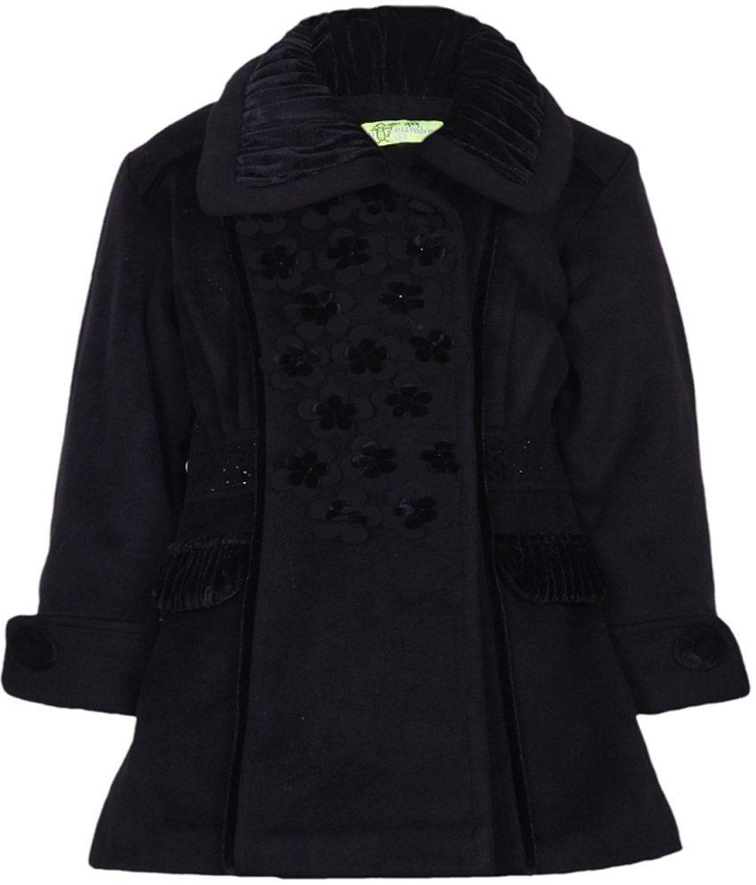 Cutecumber Black Mesh Without Hoods Full Sleeve Coats