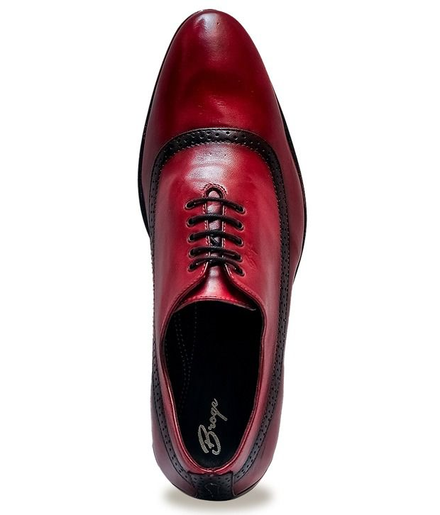 Broge Red Formal Shoes Price in India- Buy Broge Red Formal Shoes ...