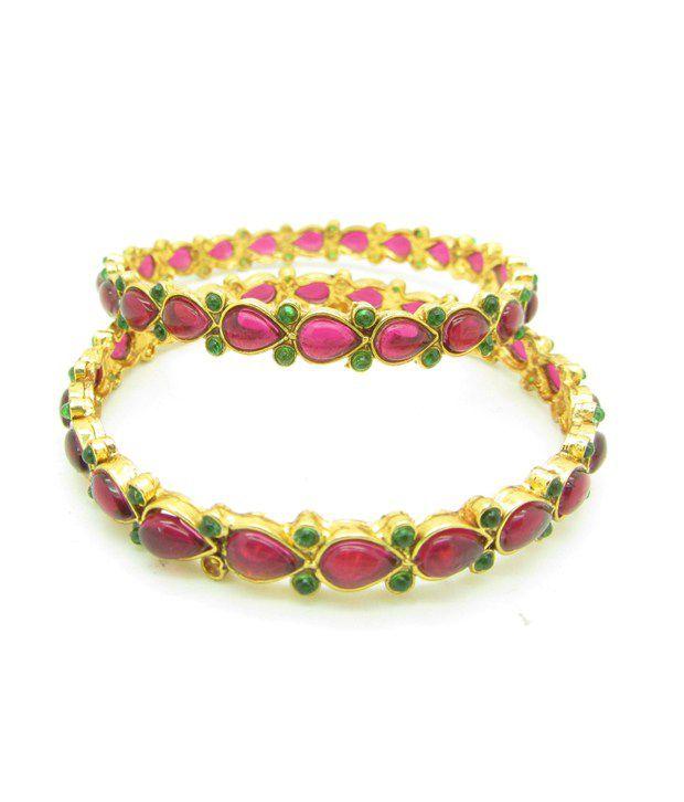 Cilver Fashion Charming Bangles Set Pink