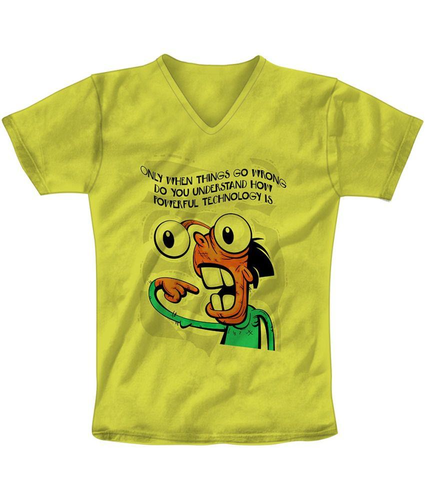 Freecultr Express Green Cotton Blend T-shirt