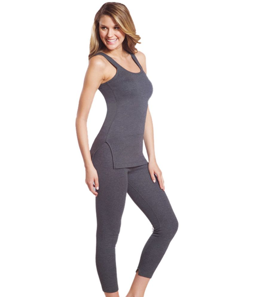 c8f80b5a42f62 Jockey Thermal Set Of White 3/4th Sleeve Top & Legging. Price in ...