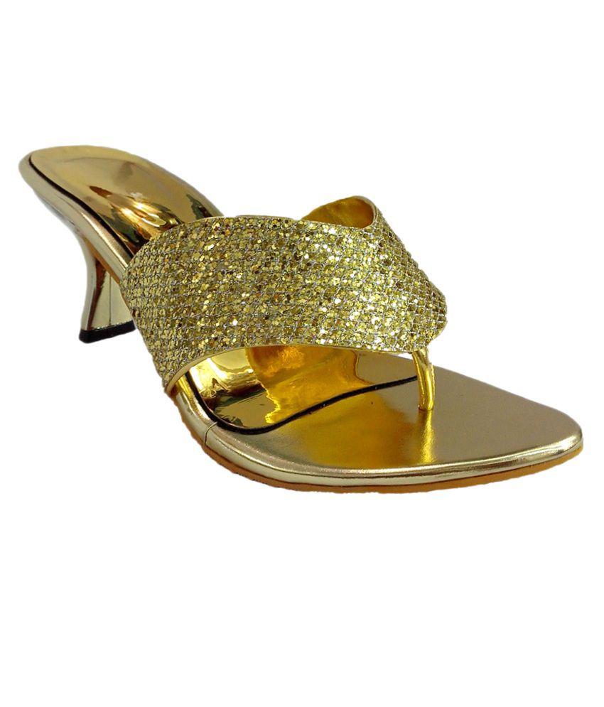 Shoecentre Gold Party Sandals