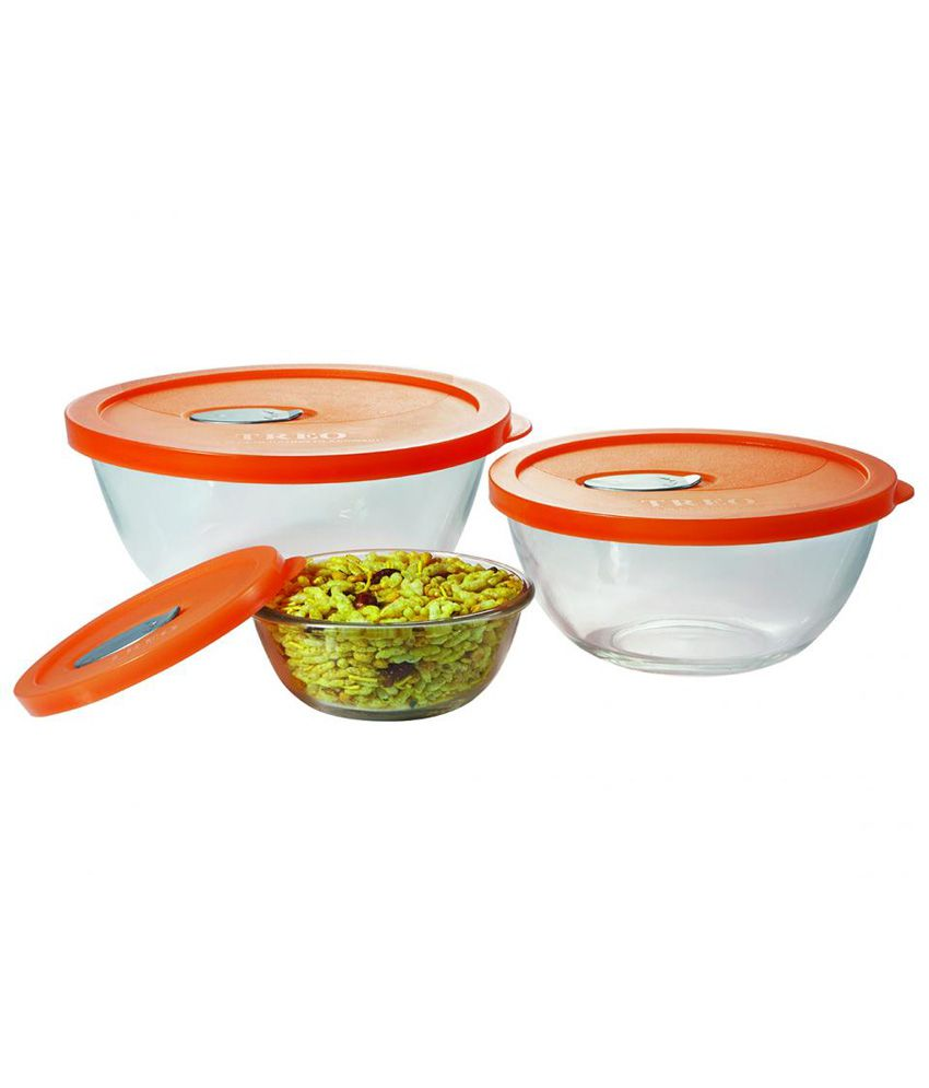 Awesome Treo Premium Glass Mixing Bowl With Lid Set 0F 3 Pc Onthecornerstone Fun Painted Chair Ideas Images Onthecornerstoneorg