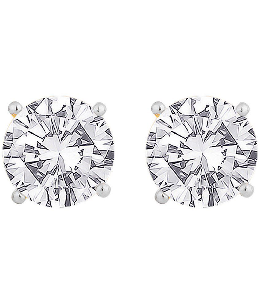 Voylla 18k Hallmarked Charming Gold Stud Earrings