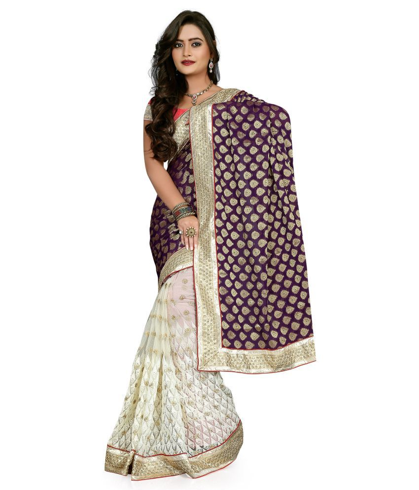 Moni Fashion Designer Net Embroidery Work Saree  Buy Moni