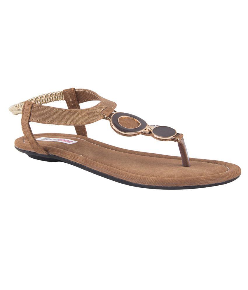 Pink Fever Tan Pu Women's Floater Sandal