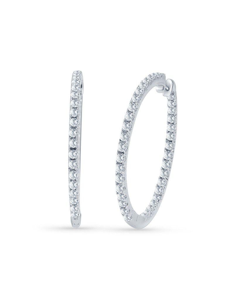 Tvesha 925 Silver Earrings Set With Zubic Zirconia
