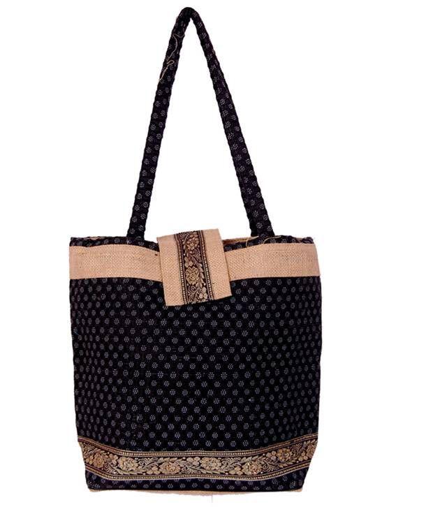 Womaniya Black Handcrafted Shoulder Bag