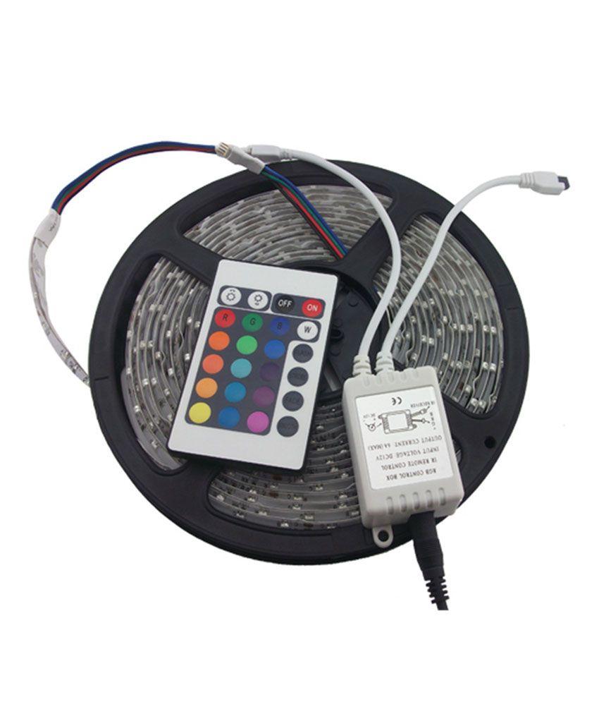 Avs Traders 5m Smd Rgb Waterproof 300 Led Strip 24 Key Ir Remote