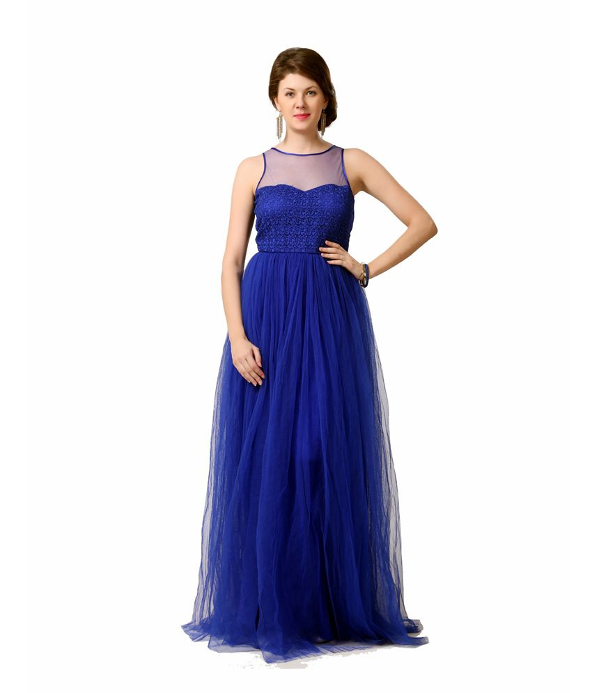 0345e3bb846 Eavan Blue Net Gowns - Buy Eavan Blue Net Gowns Online at Best Prices in  India on Snapdeal