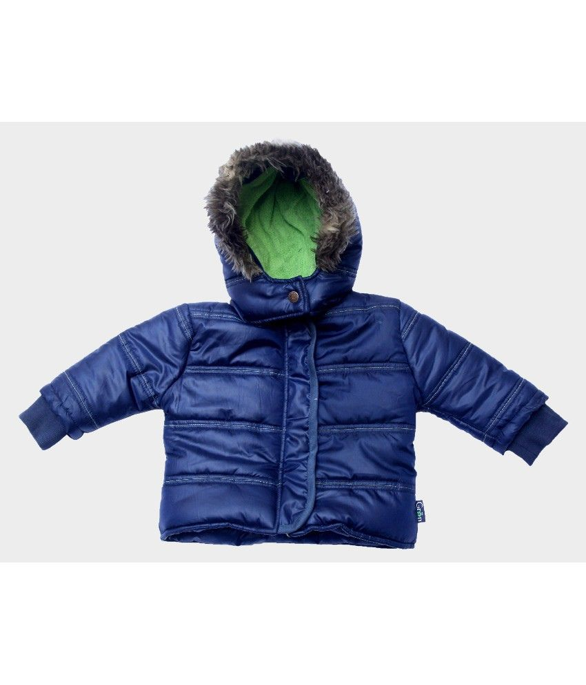 Gron Stockholm Full Sleeves Blue Color Hooded Jacket For Kids