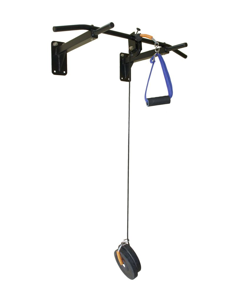 Home gym dynamics pull up bar with top pulley buy online at best