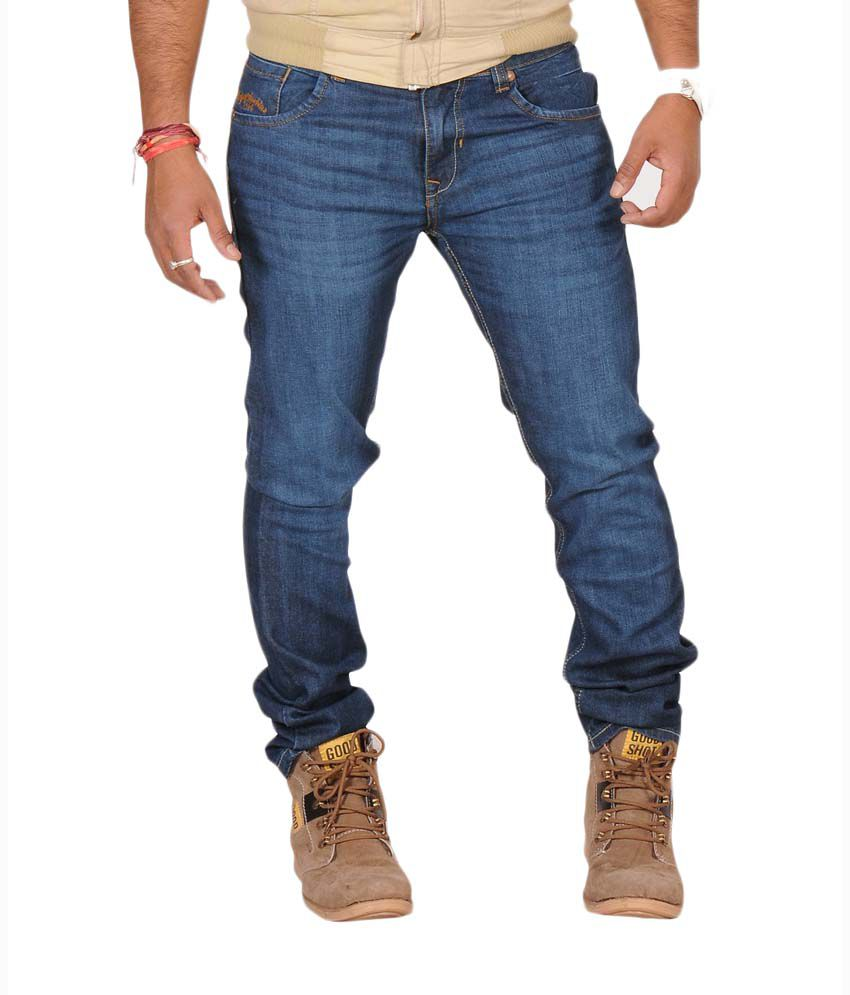 Jeans Flying Machine Jackson Washed Denim Light Blue