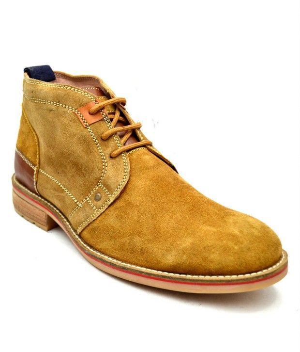 Lippy Tan Suede Leather Boots
