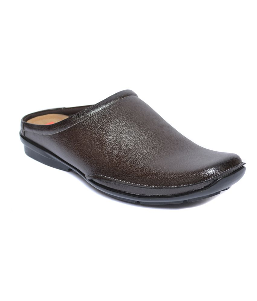 shoe makers brown leather cool half shoes price in india buy shoe rh snapdeal com
